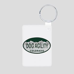 Dog Agility Colo License Plate Aluminum Photo Keyc