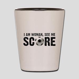 See Me Score Soccer Shot Glass