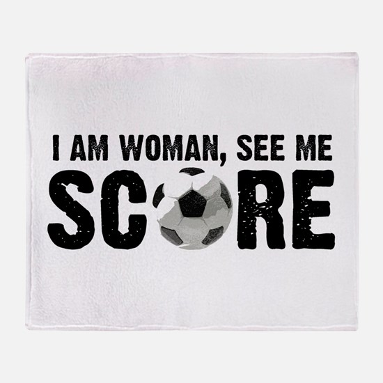 See Me Score Soccer Throw Blanket