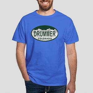 Drummer Colo License Plate Dark T-Shirt