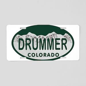 Drummer Colo License Plate Aluminum License Plate