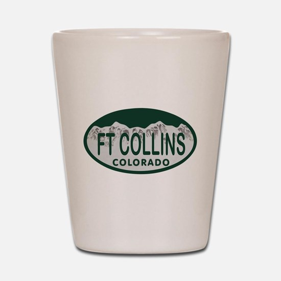 Ft Collins Colo License Plate Shot Glass