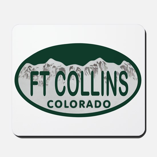 Ft Collins Colo License Plate Mousepad
