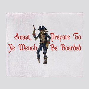 Avast Wench Throw Blanket