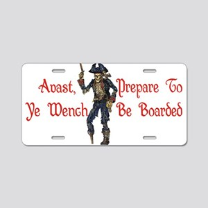 Avast Wench Aluminum License Plate