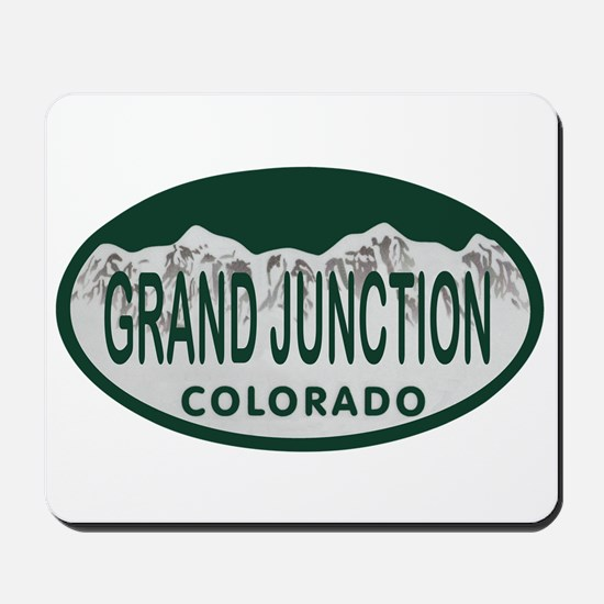Grand Junction Colo License Plate Mousepad