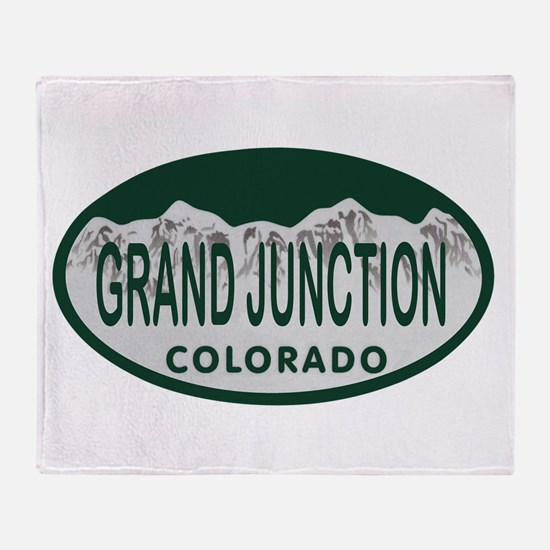 Grand Junction Colo License Plate Throw Blanket