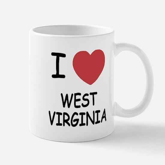 I heart west virginia Mug