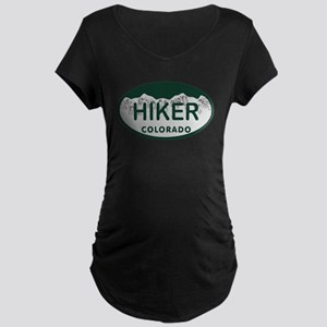 Hiker Colo License Plate Maternity Dark T-Shirt