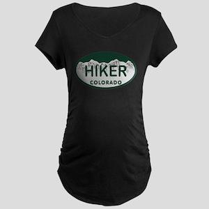 Hiker Colo License Plate Maternity Dark T-Shirt