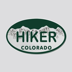 Hiker Colo License Plate 20x12 Oval Wall Decal
