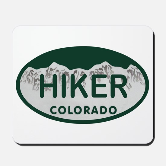 Hiker Colo License Plate Mousepad