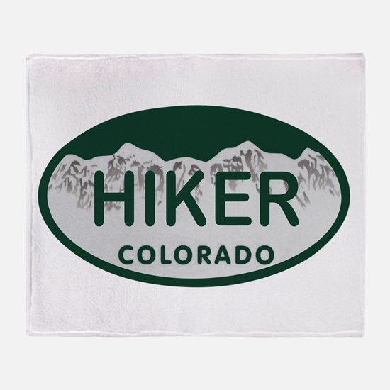 Hiker Colo License Plate Throw Blanket