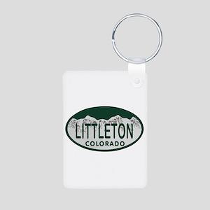 Littleton Colo License Plate Aluminum Photo Keycha