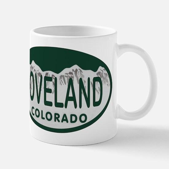 Loveland Colo License Plate Mug