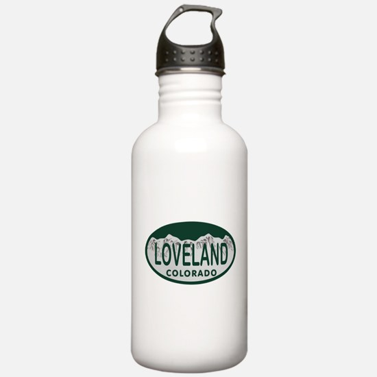 Loveland Colo License Plate Water Bottle