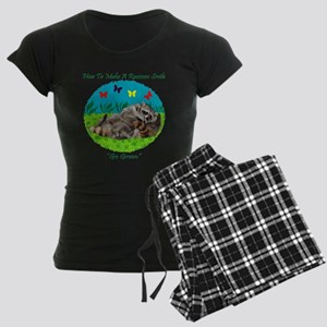 How To Make A Raccoon Smile Women's Dark Pajamas