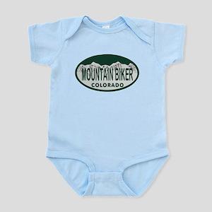 Mountan Biker Colo License Plate Infant Bodysuit