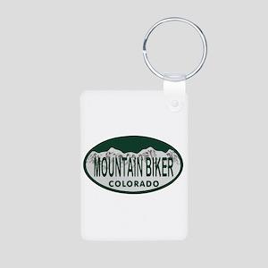 Mountan Biker Colo License Plate Aluminum Photo Ke