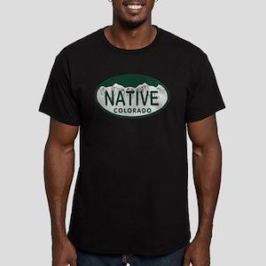 Native Colo License Plate Men's Fitted T-Shirt (da