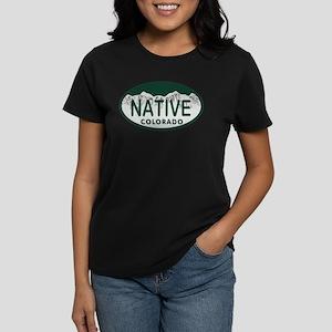 Native Colo License Plate Women's Dark T-Shirt