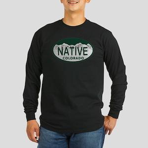 Native Colo License Plate Long Sleeve Dark T-Shirt