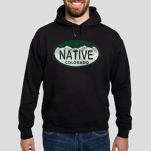 Native Colo License Plate Hoodie (dark)