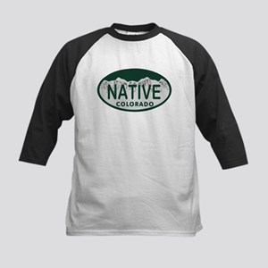 Native Colo License Plate Kids Baseball Jersey