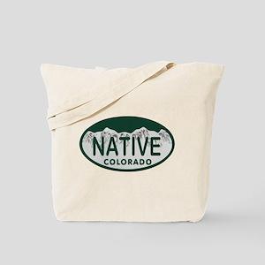 Native Colo License Plate Tote Bag