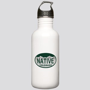 Native Colo License Plate Stainless Water Bottle 1