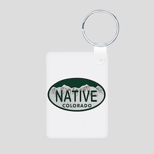 Native Colo License Plate Aluminum Photo Keychain