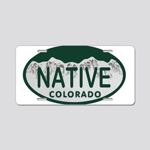 Native Colo License Plate Aluminum License Plate