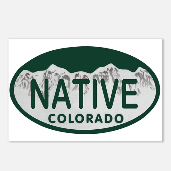 Native Colo License Plate Postcards (Package of 8)
