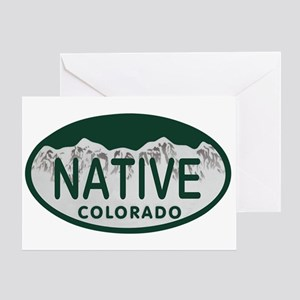 Native Colo License Plate Greeting Card