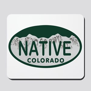 Native Colo License Plate Mousepad