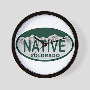 Native Colo License Plate Wall Clock