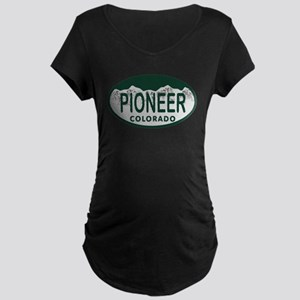 Pioneer Colo License Plate Maternity Dark T-Shirt