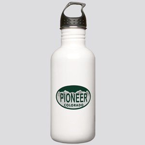 Pioneer Colo License Plate Stainless Water Bottle