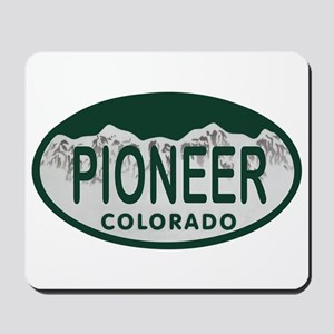 Pioneer Colo License Plate Mousepad