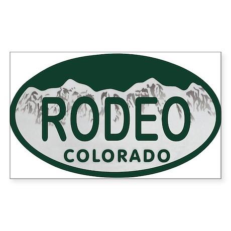 Rodeo Colo License Plate Sticker (Rectangle)