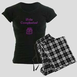 Spanish Birthday Pink Women's Dark Pajamas