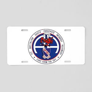 1st / 508th PIR Aluminum License Plate