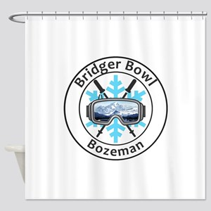 Bridger Bowl - Bozeman - Montana Shower Curtain