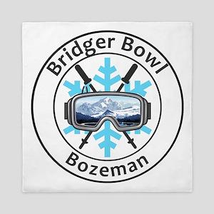Bridger Bowl - Bozeman - Montana Queen Duvet