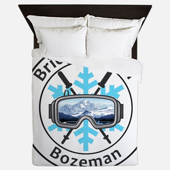Bridger Bowl - Bozeman - Montana Queen Duvet