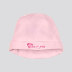 Everyday Pink Ribbon baby hat