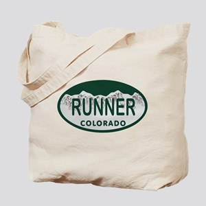 Runner Colo License Plate Tote Bag