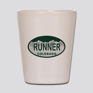 Runner Colo License Plate Shot Glass