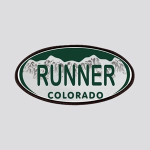 Runner Colo License Plate Patches