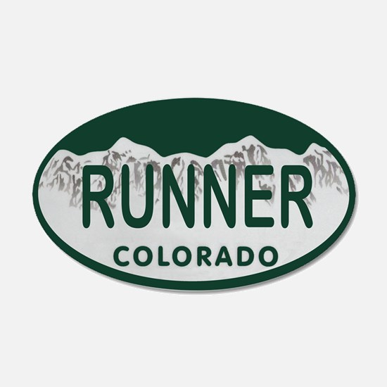 Runner Colo License Plate Wall Decal